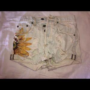 Carmar denim shorts.